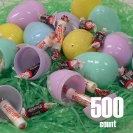 Plastic Easter eggs filled with Candy-500