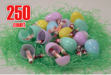 Plastic Easter eggs filled with Candy-250