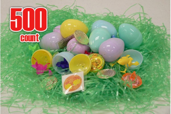 Plastic Easter eggs filled with Toys-500