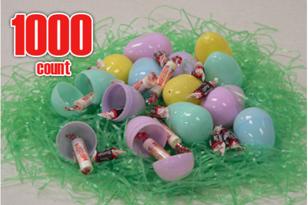 Plastic Easter eggs filled with Candy-1000