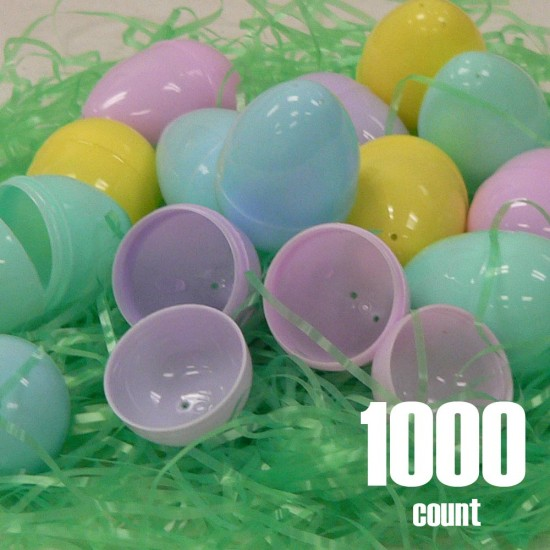 Plastic Easter eggs unfilled